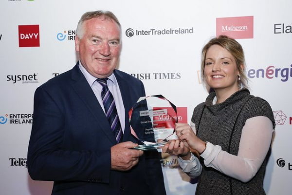 "Pictured are Frank & Claire Kiernan. Our member company Kiernan Structural Steel Longford who was Inaugural Gold winner in""Property and Construction  Family Business Awards."