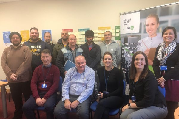 Picture of the Carrick on Shannon group doing The Good Manufacturing Practice training